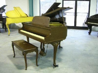 Whitney louis xv apartment size baby grand piano for Size of baby grand piano