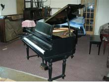 The piano factory showroom for Baby grand piano height